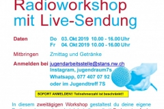 Radio Workshop Klipp und Klang Oktober