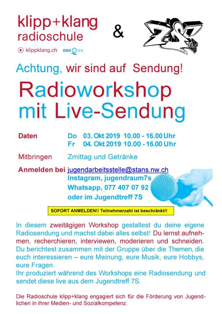 Radio Workshop Klipp&Klang