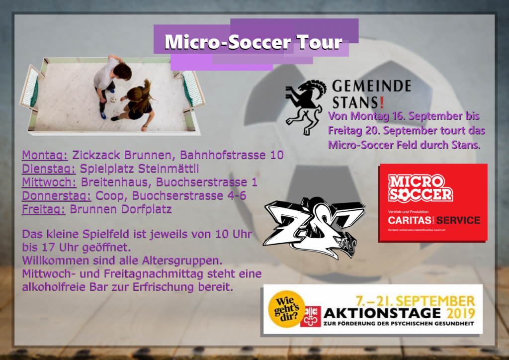 Micro Soccer Tour Stans
